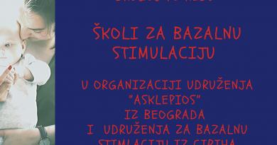 Obaveštenje i program škole za bazalnu stimulaciju